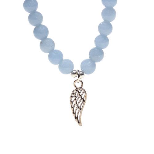 Angeliet armband met engelvleugel elastisch