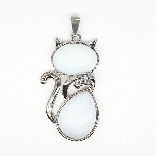 Edelsteen hanger Opaliet kat