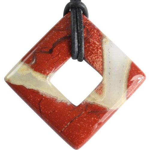 Donut vierkant Jaspis rood
