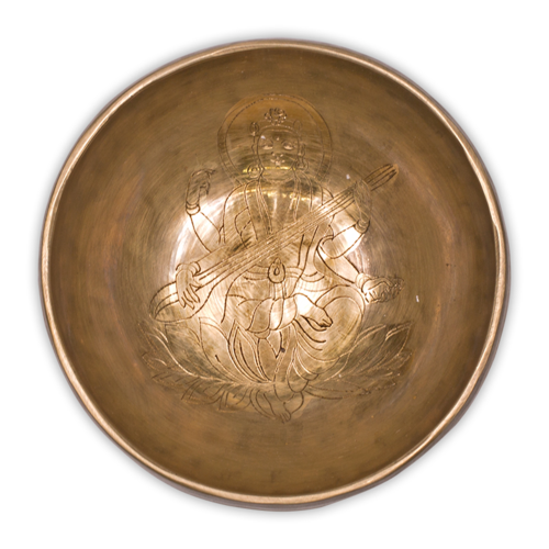 Saraswati klankschaal 450 - 550  gram