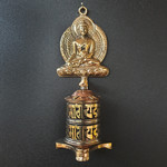 Gebedsmolen boeddha tafelmodel