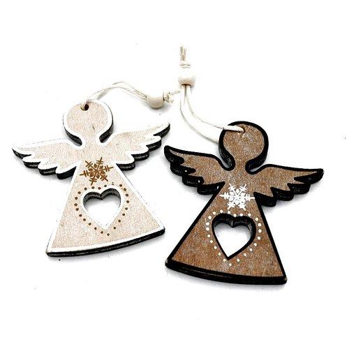 Engel hanger hout met hartje