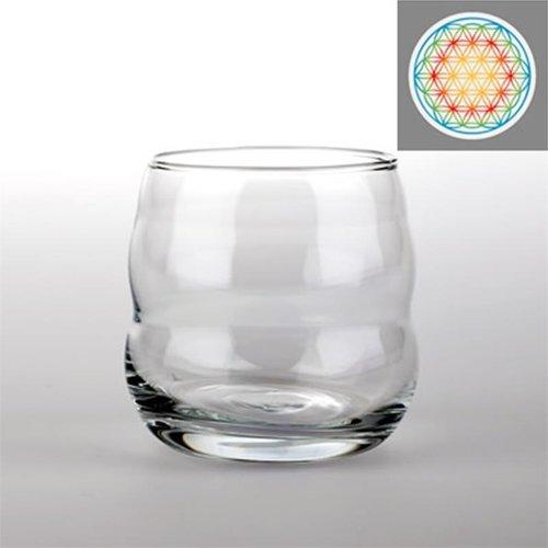 Drinkglas Mythos met Bloem des Levens veelkleurig