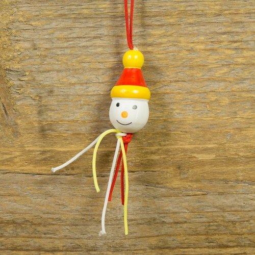 Gelukspoppetje kerst sneeuwpop 10 stuks