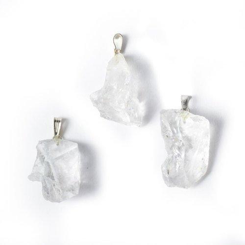 Bergkristal ruw edelsteenhanger