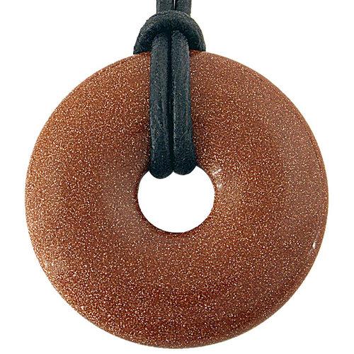 Donut 3 cm goudsteen