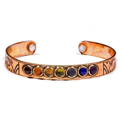 Armband 7 Chakra mineralen magnetisch