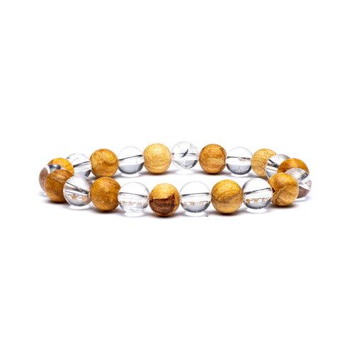 Armband bergkristal palo santo elastisch