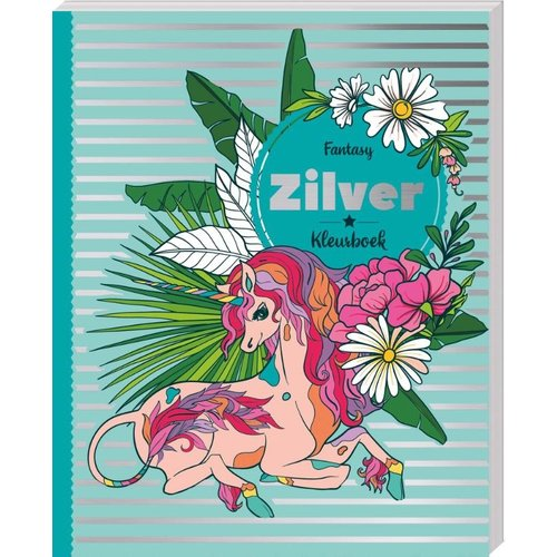 Glitterkleurboek Zilver - Fantasy
