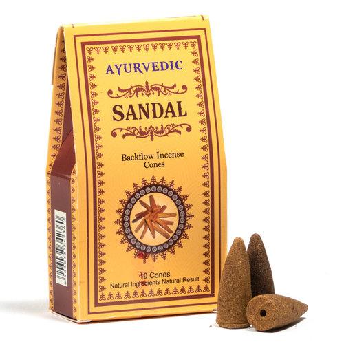 Ayurvedische Sandelhout backflow wierookkegels