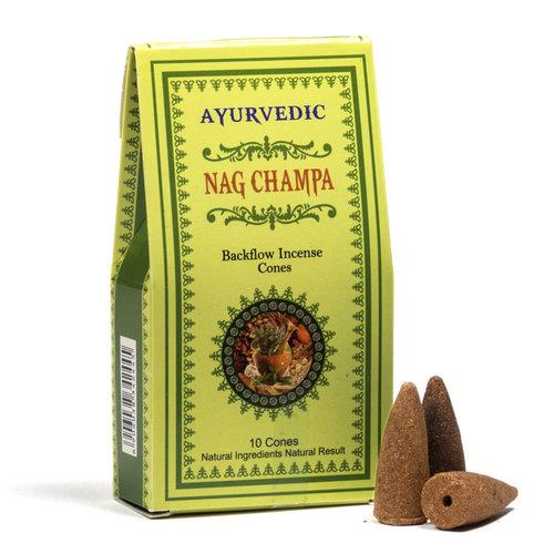 Ayurvedische Nag Champa backflow wierookkegels