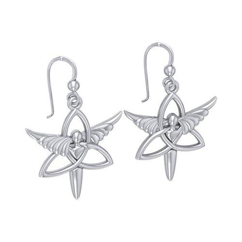 Engel van eenwording oorbellen zilver