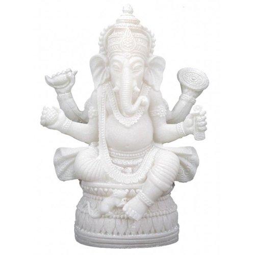 Ganesha beeld Wit
