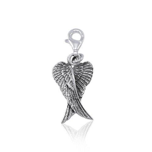 Engelvleugels bedeltje zilver