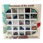 Doosje met 25 geslepen stenen