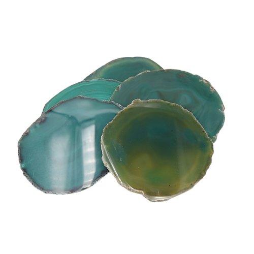 Agaatschijf groen groot 12 a 15 cm