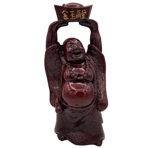 Boeddha goudklomp geluk rood