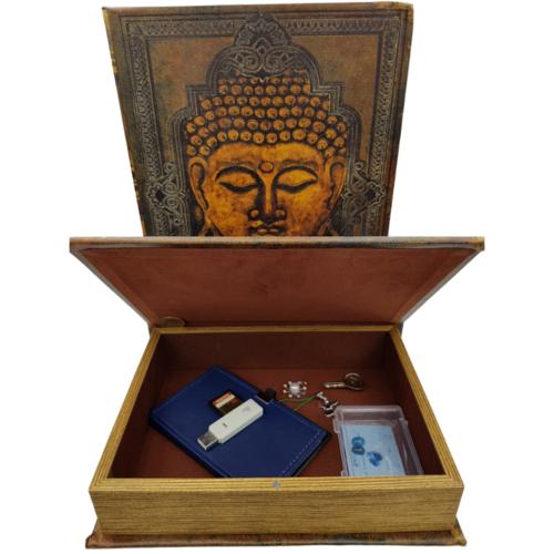 Boek boeddha geheime opbergdoos set van 2