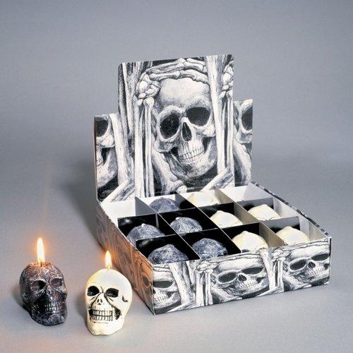 halloween kaars schedel