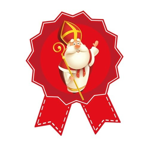Cadeausticker Sinterklaas 10 stuks