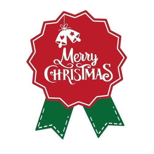 Cadeausticker Merry Christmas 10 stuks