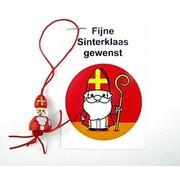 Sinterklaas kaartje met Gelukspoppetje Sint