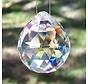 Regenboogkristal Bol transparant  5 cm