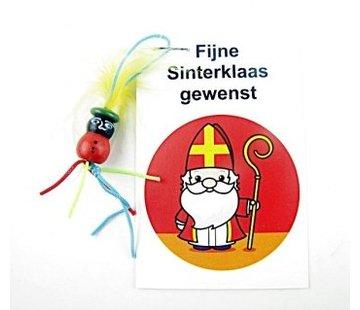Sinterklaas kaartje met zwarte piet
