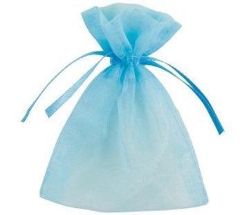 Organzazakje hemelsblauw 7 x 10 cm