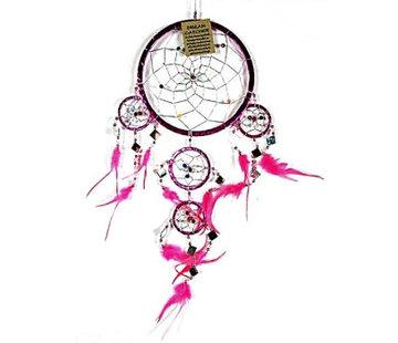 Dromenvanger met roze folie16 cm