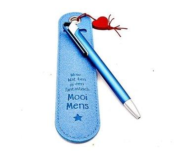 Pen met tekst - mooi mens