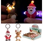 Set van 2 sleutelhangers met rendier en Kerstman