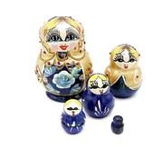 Matroesjka pop blauw 10 cm