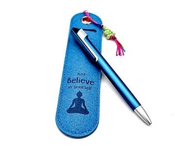 Pen met tekst - just believe in yourself