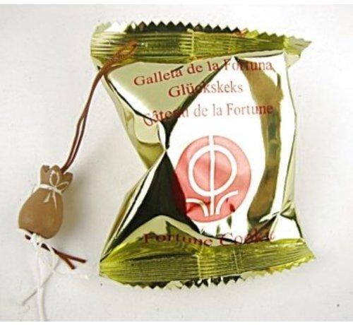 Fortune cookie met de zak van Sinterklaas 10 stuks