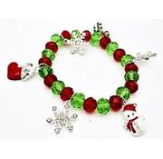Kerst armband met bedeltjes