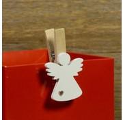 Kerst knijper engel 10 stuks
