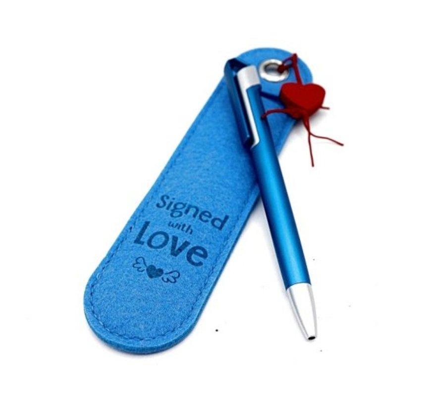 Pen met tekst - signed with love