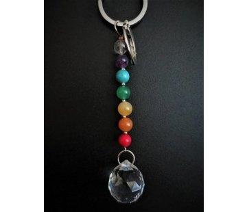 Chakra sleutelhanger met kristal bol