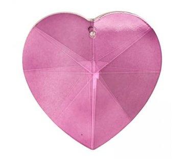 Mooie regenboogkristal hart roze