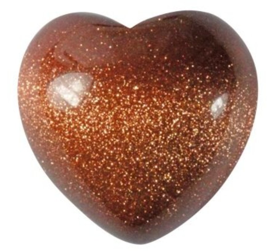 Hart goudsteen klein 1,5 cm