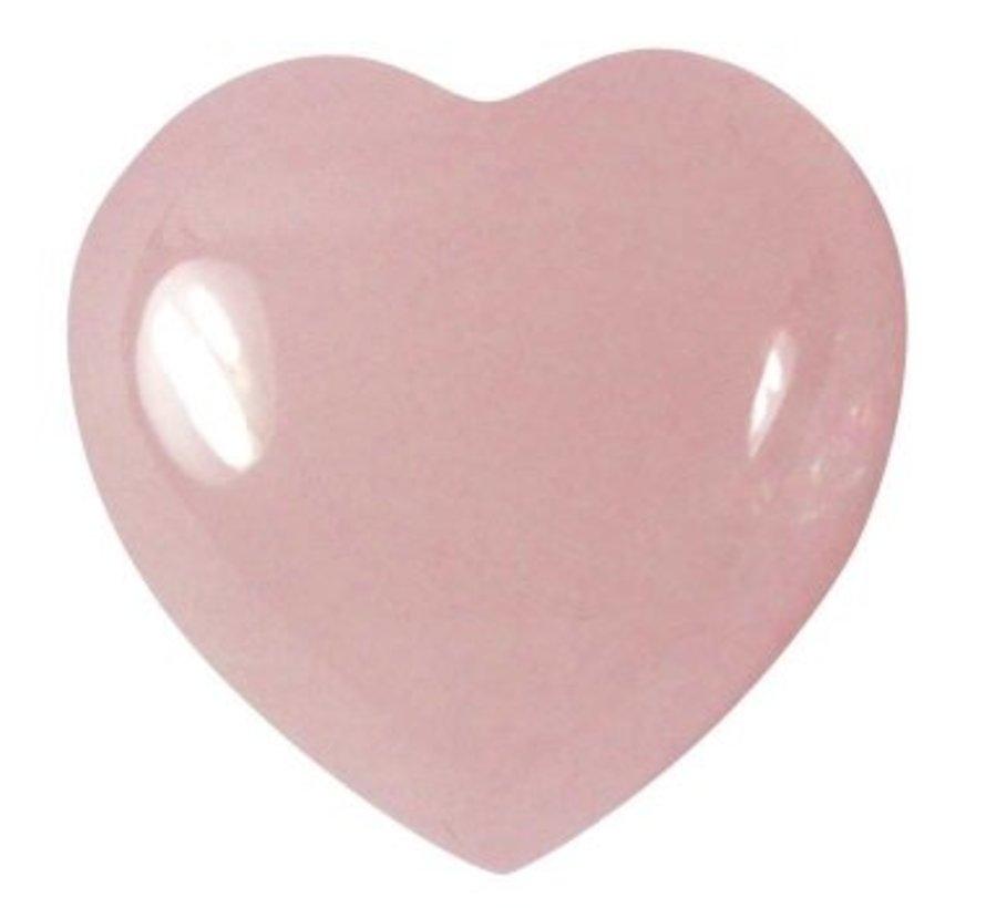 Hart rozekwarts 1,5 cm