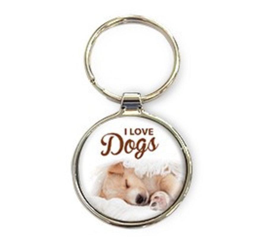 I love Dogs - Luxe Sleutelhanger