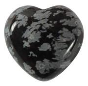 Hart sneeuwvlok obsidiaan klein