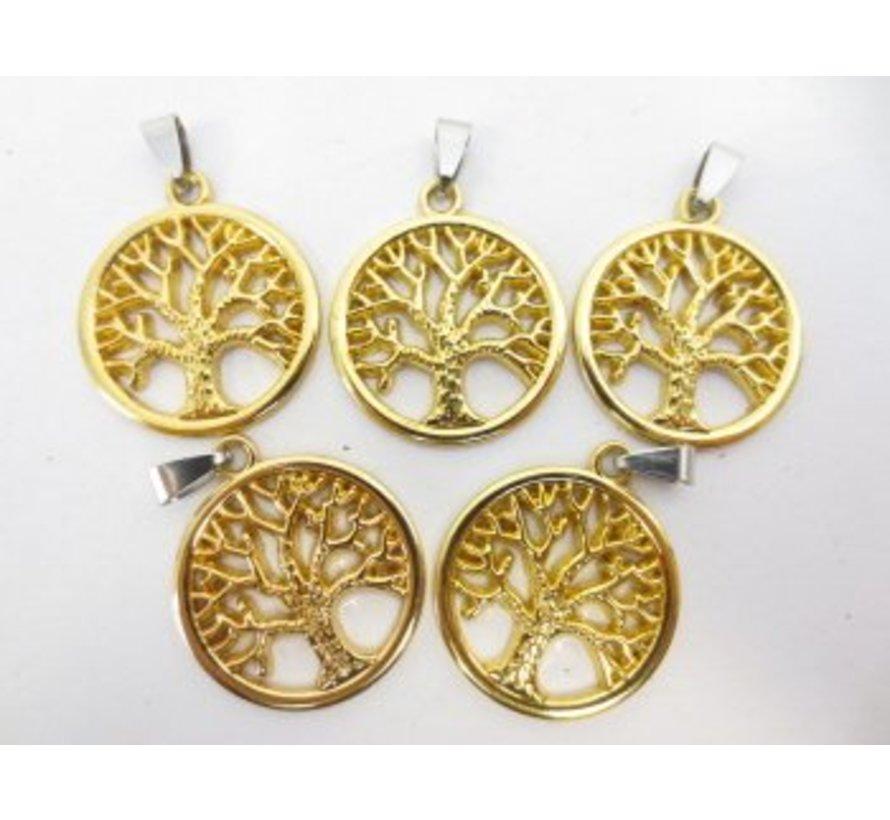 Levensboom hanger goudkleurig