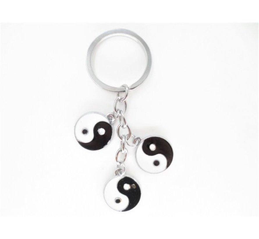 Sleutelhangers met 3 yin yang symbolen