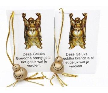 Boeddha goudkleur op kaartje 10 stuks