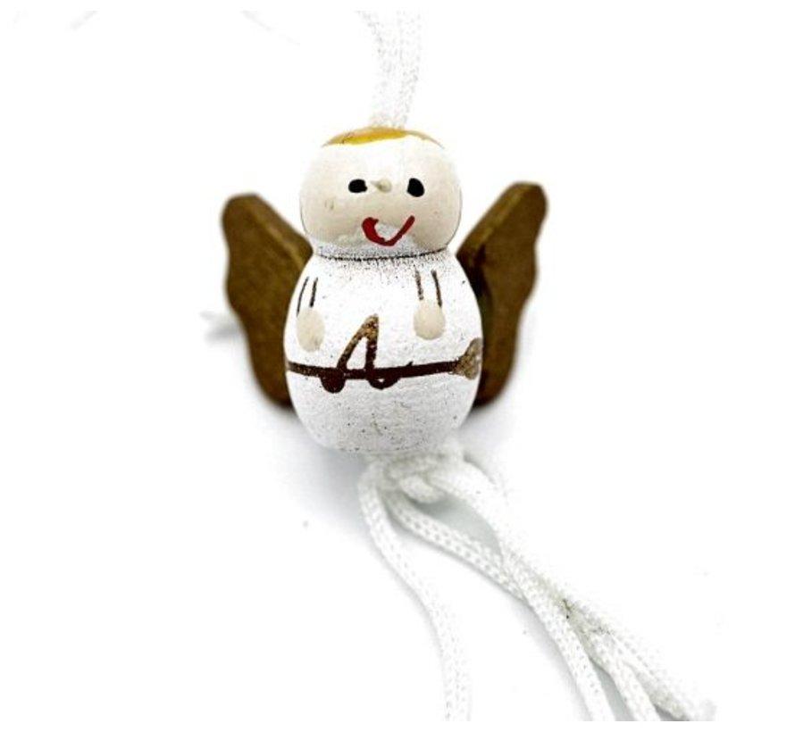 Gelukspoppetje engel met vleugels 10 stuks