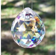 Regenboogkristal Bol transparant  3 cm