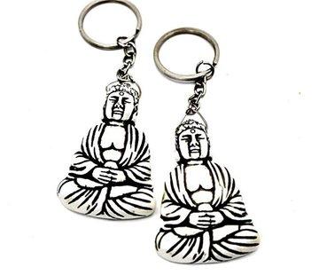Sleutelhanger Thaise boeddha wit